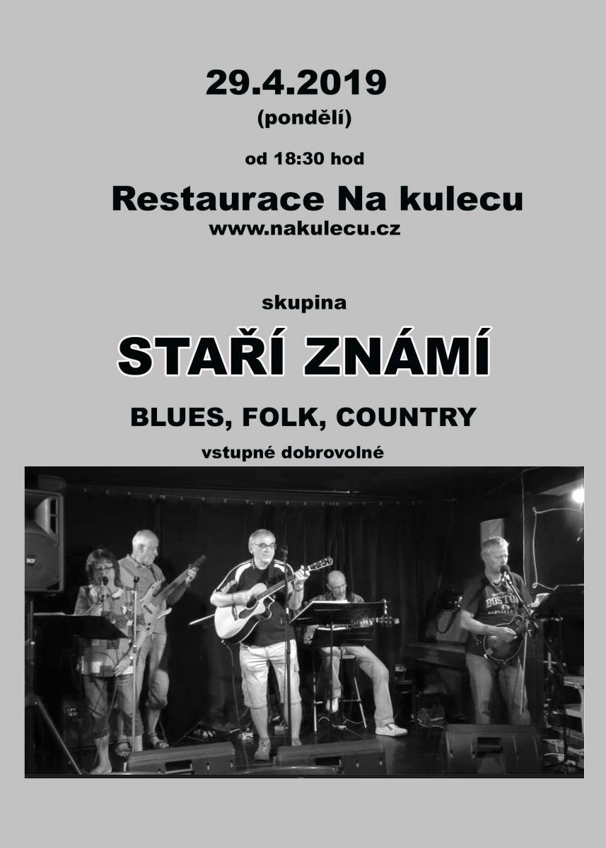 Koncert kapely Staří známí 29.4.